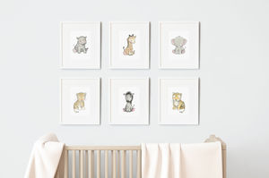 Safari Baby Nursery Print