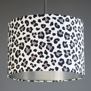 Black And White Leopard Print Lampshade