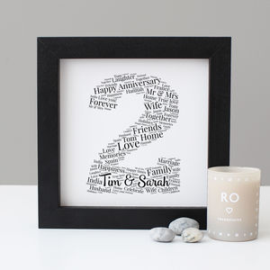 Personalised 2nd Anniversary Print - personalised sale