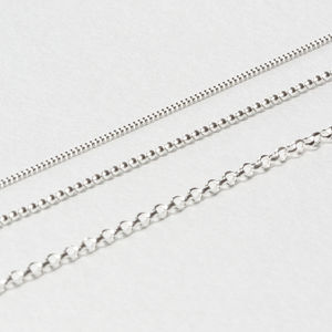 Sterling Silver Chains - necklaces & pendants