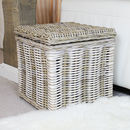 Rattan Trunk Storage Basket Chest