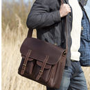Luxury Leather Outdoor Satchel Bag