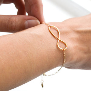 For All Time Gold Infinity Bracelet - gifts for her