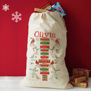 Personalised Christmas Gift Sack - hello christmas design (birds)
