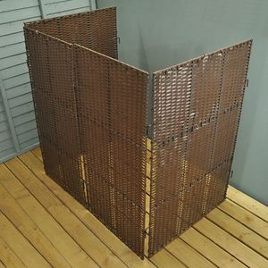 Windy Willows Rattan Double Bin Screen