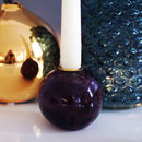 Burgundy And Gold Round Candlestick