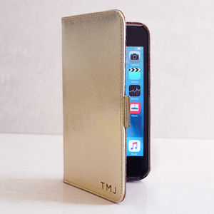 Personalised iPhone Case In Gold