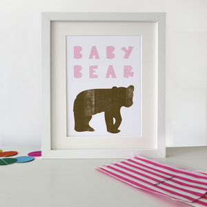 'Baby Bear' Print - pictures & prints for children