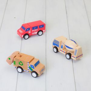 Set Of Three Click And Clack Wooden Toys - traditional toys & games