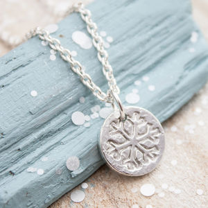 Sterling Silver Snowflake Necklace - children's jewellery