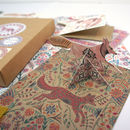 Stationery Gift Box Fox Theme