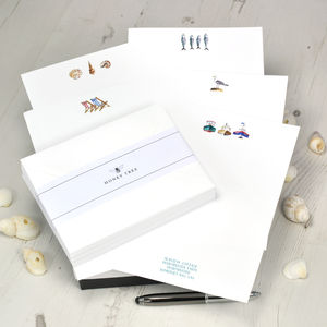 British Seaside Writing Paper Gift Set - desk accessories