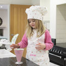 Personalised Childs Floral Chef Apron And Hat Set