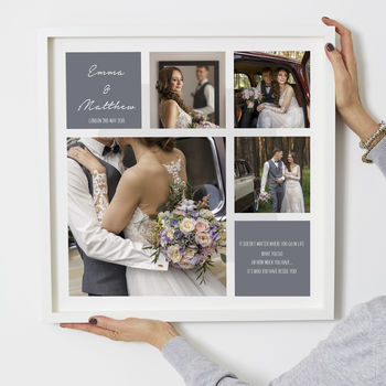 Personalised 'Wedding'square Photo Print