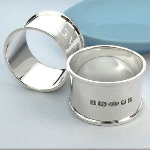Personalised Silver Napkin Ring - 25th anniversary: silver