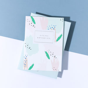 'Oh Hey There Birthday Girl' Camo Card - birthday cards