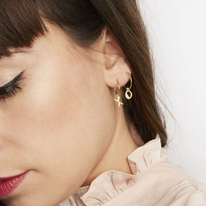 Initial Hoop Earrings - gifts for her