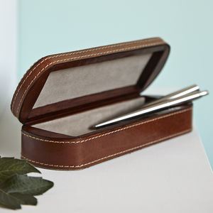 20% Off Personalised Leather Pen Box
