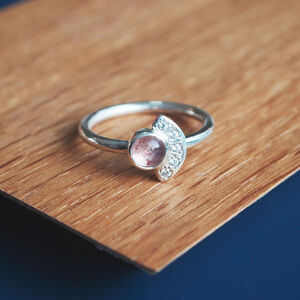 Strawberry Quartz Fan Ring