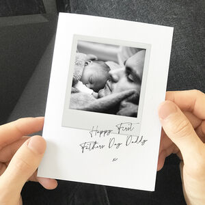 Personalised 'First Father's Day' Photo Card