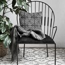 Matt Black Armchair