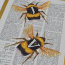 Bee Letter Print Two detail