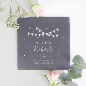 Personalised Wedding Gift Festival Slate Serving Board