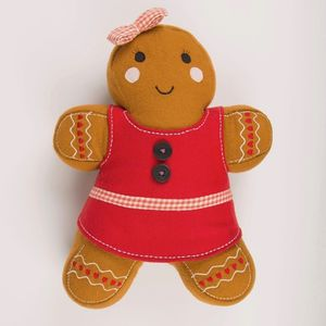 Christmas Gingerbread Cushion - christmas home accessories