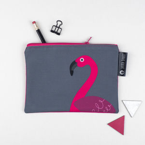 Pink Flamingo Purse Or Pencil Case - fashion sale
