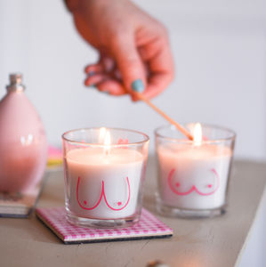 Personalised Boobalicious Candles