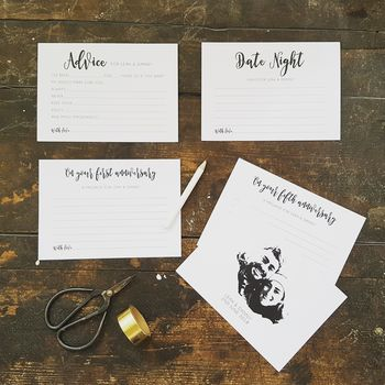 Personalised Fun Wedding Advice Cards