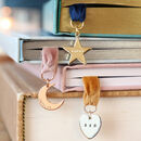 Personalised Charm And Ribbon Bookmark