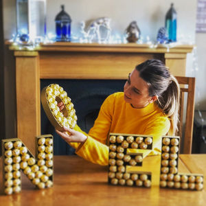 Ferrero Wooden Letter - table decorations