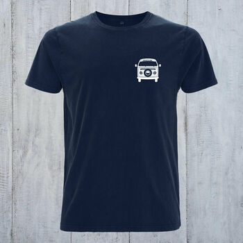 Personalised Camper Van Organic Cotton T Shirt