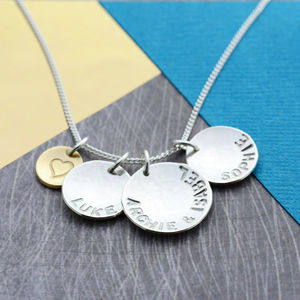 Sterling Silver Personalised 'Her Story' Necklace - gifts for mothers
