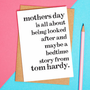Tom Hardy Bedtime Story Card - funny cards