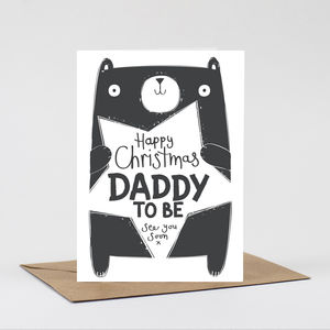 Daddy To Be Christmas Card - cards