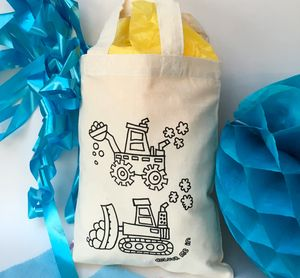 Colour In Diggers Party Bag - girls' bags & purses