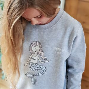 Personalised Little Mermaid Children's Sweatshirt
