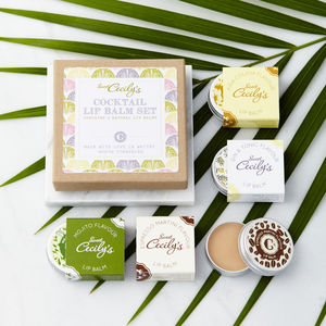 Cocktail Lip Balm Gift Box - personalised gifts