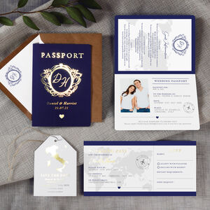 Passport Foil Wedding Invitation