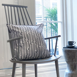 Screen Printed Newport Bamboo Pattern Cushion - cushions