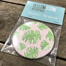 Monstera Leaf And Blush Pink Pocket Mirror