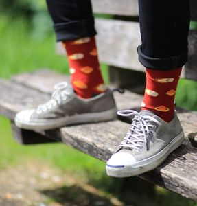Red Comet Cotton Socks