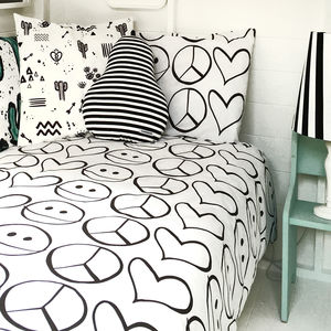 Peace Out Children's Bedding In Super Soft Cotton - children's room
