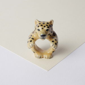 Leonard The Leopard Ring - jewellery