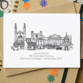 Personalised Graduation Skyline Greetings Card - cards