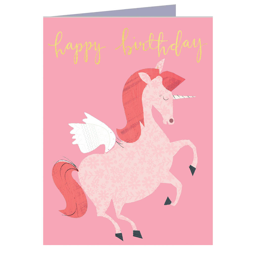 Happy Birthday Unicorn Mini Card