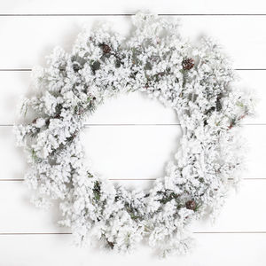 Large Snowy Christmas Wreath - view all decorations