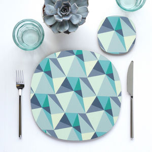 Shards Design Placemats And Coasters